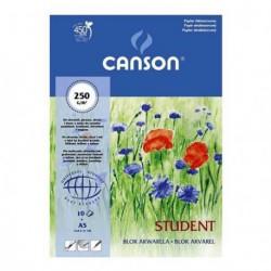Blok akwarelowy Canson Student 250g 10ark.30x40cm