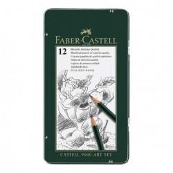 Ołówki Faber Castell 9000 kpl.12szt.ART SET