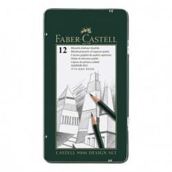 Ołówki Faber Castell 9000 kpl.12szt.DESIGN SET
