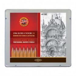 Ołówki Techniczne Koh-I-Noor kpl.24 8B-10H