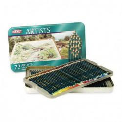 Kredki Derwent Artist kpl.72 metalowe pudełko