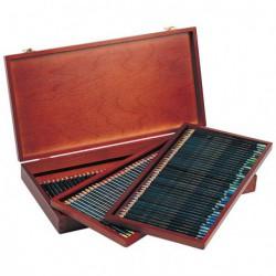 Kredki Derwent Artist zestaw 120 drewniana kaseta