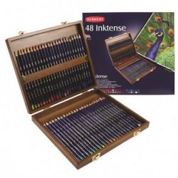 Kredki Derwent Inktense zestaw 48 kaseta drewiana