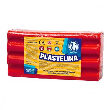 Astra plastelina 1kg. czerwona 29080