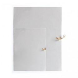 Teczka wiązana biała A3 błysk