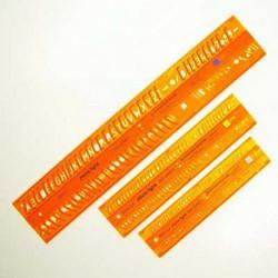 Szablon Standard litery kursywa 0,35 cm