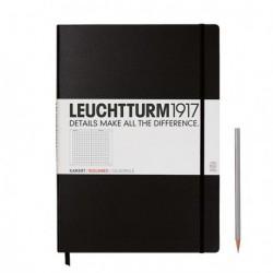 Notatnik LEUCHTTURM1917 A4 233st. czarny kratka