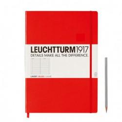 Notatnik LEUCHTTURM1917 A4 233st. czerwony linia