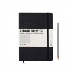 Notatnik LEUCHTTURM1917 A5 121s.soft czarny kratka