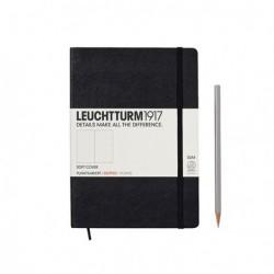 Notatnik LEUCHTTURM1917 A5 121s.soft czarny kropki
