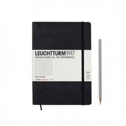 Notatnik LEUCHTTURM1917 A5 121s.soft czarny linia