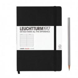 Notatnik LEUCHTTURM1917 A5 249s.czarny linia