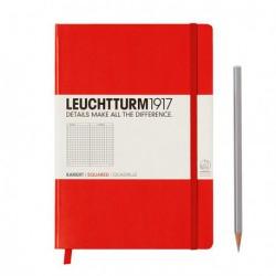 Notatnik LEUCHTTURM1917 A5 249st.czerwony kratka