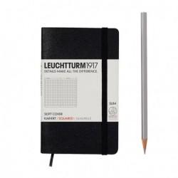 Notatnik LEUCHTTURM1917 A6 121s.soft czarny kratka