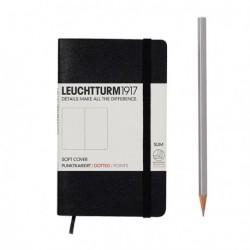 Notatnik LEUCHTTURM1917 A6 121s.soft czarny kropki