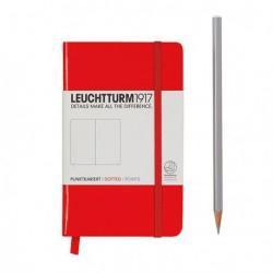 Notatnik LEUCHTTURM1917 A6 185st. czerwony kropki
