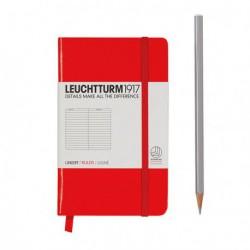 Notatnik LEUCHTTURM1917 A6 185st. czerwony linia