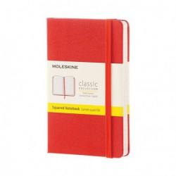 Notes Moleskine P(9x14) Hard czerwony kratka