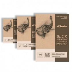 Blok szkicowy Leniar A4 jasny papier 80g.100ark.