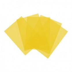 Folia PCV A3 sztywna przezroczysta żółta 230my