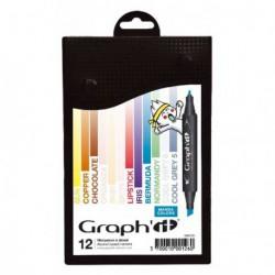 Markery GRAPHIT zestaw 12szt.MANGA COLORS