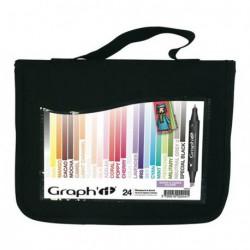 Markery GRAPHIT zestaw 24szt. SCRAP