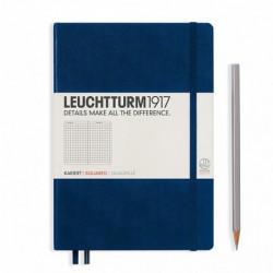 Notatnik LEUCHTTURM1917 A5 249st.granatowy kratka