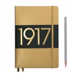 Notatnik LEUCHTTURM1917 A5 249st.złoty gładki