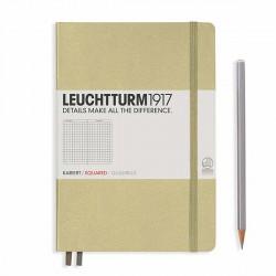 Notatnik LEUCHTTURM1917 A5 249st.piaskowy kratka