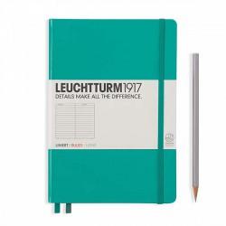 Notatnik LEUCHTTURM1917 A5 249st.szmaragd linia