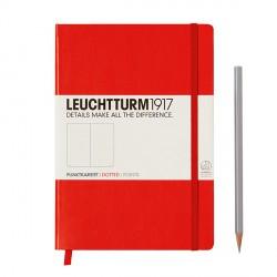 Notatnik LEUCHTTURM1917 A5 249st.czerwony kropki