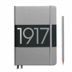 Notatnik LEUCHTTURM1917 A5 metalic srebrny linia