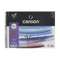 Blok Canson MONTVAL 270g 24x32cm TORCHON spirala