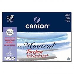Blok Canson MONTVAL 270g 29,7x42cm(A3) TORCHON