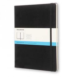 Notes Moleskine XL(19x25) Hard czarny kropki