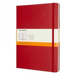 Notes Moleskine XL(19X25)Classic czerwony linia