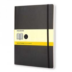 Notes MoleskineXL(19x25) Soft czarny kratka