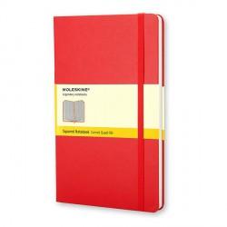 Notes Moleskine L(13x21) Hard  czerwony kratka