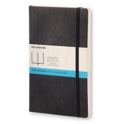 Notes Moleskine L(13x21) Soft czarny kropki