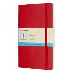 Notes Moleskine L(13x21) Soft czerwony kropki