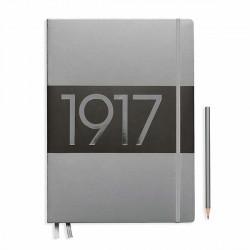 Notatnik LEUCHTTURM1917 A4+ metalic srebrny kropki