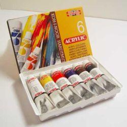 Farby akrylowe Koh-I-Noor 16ml.kpl.6szt.