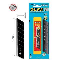 Ostrza OLFA HBB-5B segmentowe 25mm czarne