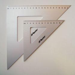 Ekierka Leniar metal 45st.21cm