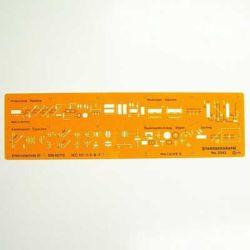 Szablon Standardgraph 3343 Elektrotechniczny