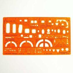 Szablon Standardgraph/Leniar 7300 Architekt I 1:50